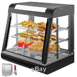 Commercial Food Warmer Court Heat Food pizza Display Warmer Cabinet 27 Glass