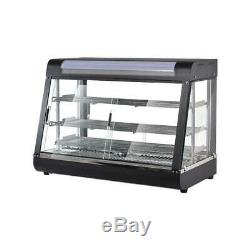Commercial Food Warmer Court Heat Food pizza Display Warmer Cabinet 35Inch Glass
