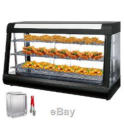 Commercial Food Warmer Display Case Pizza Warmer 48in Pasty Warmer buffet 3 Tier