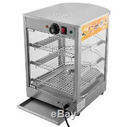 Commercial Food Warmer Pizza Warmer 14-Inch Pastry Warmer with Magnetic Door