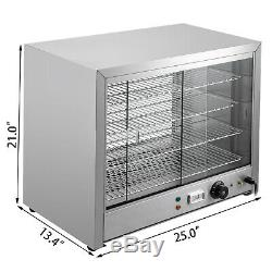 Commercial Food Warmer Pizza Warmer 25-Inch Pastry Warmer with Sliding Doors