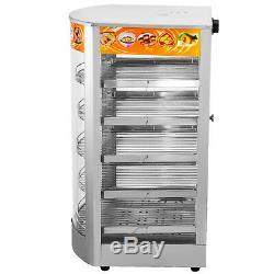 Commercial Food Warmer Pizza Warmer 5-Tier Pastry Warmer with Magnetic Door