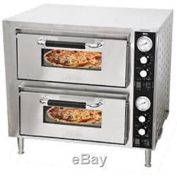 Commercial Kitchen Countertop Double Deck Quartz Pizza Oven