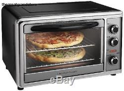 Commercial Pizza Oven Rotisserie Convection Toaster Counter Top Broil Bake Snack