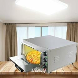 Commercial Pizza Oven Single Deck Electric 110V Cake Toaster Oven, Stainless FDA