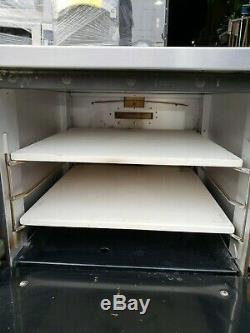 Comstock Castle PO19 Pizza Oven Counter Top Gas with Two 19 Hearth Decks #1682