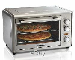 Convection Oven Countertop Pizza Kitchen Rotisserie Bake Broil Energy Efficient
