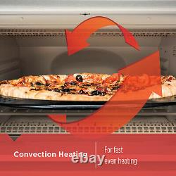 Convection Oven Toaster Countertop 6-Slices 12 Pizza Stainless Steel 3 Rack