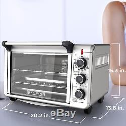 Convection Toaster Oven Countertop 6 Slice Pizza Stainless Steel Kitchen Baking