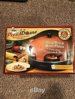 Countertop Mini Pizza Oven Cooking Stone Terracotta Dome Compact Nonstick Party