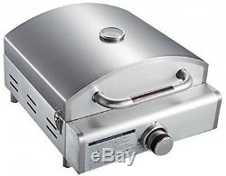 Countertop Pizza Oven Portable BBQ Griddle Stainless Steel Gas 3-in-1 Cooking