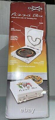 Cuizen Pizza Box Pizza Oven with 12 Rotating Pan PIZ-4012 NIB box opened