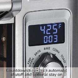 Digital display Countertop Pizza Toaster Oven Convection Large, Stainless Steel