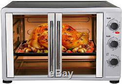 Ehuo Large Toaster Oven Countertop French Door Designed, 18 Slices, 14'' pizza