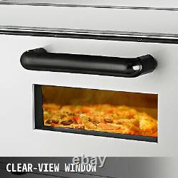 Electric 2000W Pizza Oven Single Deck Restaurant Countertop Commercial