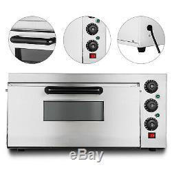 Electric 2000W Pizza Oven Single Deck Restaurant Countertop Commercial POPULAR