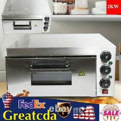 Electric Pizza Oven 2000W Single Layer Commercial Double Deck Bake Oven Toaster