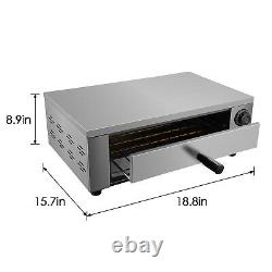 Electric Pizza Oven Countertop Pizza Oven 12Pizza Baker StainlessSteel Home Use
