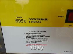 Food Warmer Cabinet Case Food Warming Oven with New Pizza Trays! Hot Display FUN