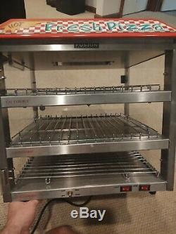 Fusion Pizza Warmer 3 Tier Display 513FC Commercial Heated Pizza Display