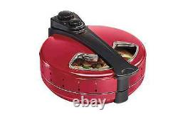 Hamilton Beach 12 in. Pizza Maker Electric Rotating Enclosed Cooker Oven Red