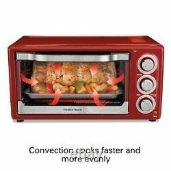 Hamilton Beach 6 Slice Toaster Over Countertop Oven Toast Pizza/Bake/Warm/Broil