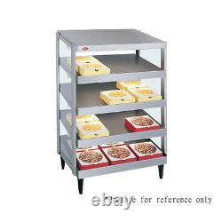 Hatco GRPWS-2418Q Countertop Pass-Thru Pizza Warmer with Quadruple Slanted Shelves