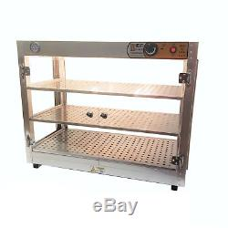 HeatMax Commercial 30 x 15 x 24 Countertop Food Pizza Pastry Warmer Wide Display