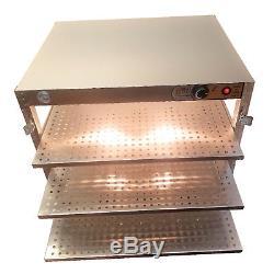 HeatMax Commercial 30 x 24 x 24 Countertop Food Pizza Pastry Warmer Wide Display