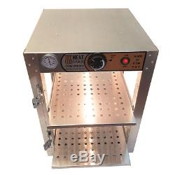 HeatMax Commercial Food Warmer Pizza Pastry Hot Countertop Display Case 14x14x20