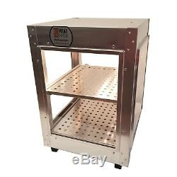 Heatmax Commercial Food Warmer Pizza Pastry Hot Display Case Water Tray 14x14x20