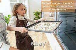 Large Toaster Oven Countertop French Door 18 Slice 14'' Pizza 20lb Turkey Silver