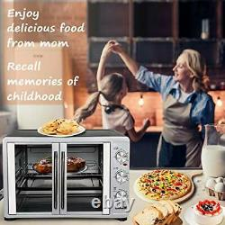 Large Toaster Oven Countertop French Door Designed, 18 Slices, 14'' pizza
