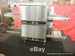 Lincoln 1301-1 Electric Countertop Double Conveyor Pizza Oven