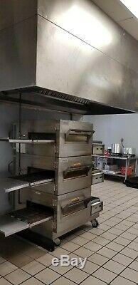 Lincoln Impinger 1132 Tripple Stack Electric Conveyor Pizza Sub Oven (3) Deck 3