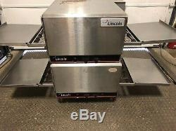Lincoln Impinger Double Stack 1301 Conveyor Pizza Sub Single Phase Oven NICE