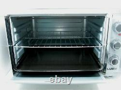 Luby Extra Large Countertop French Door Oven Toaster Dual Temp 14'' Pizza