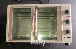 Luby GH55-H Large Toaster Oven Countertop French Door, 18 Slices, 14'' pizza