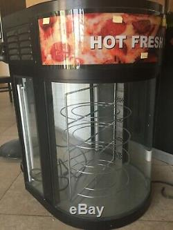 Merco Pizza Warmer Revolving Display with Curved Glass