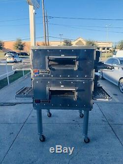 Middleby marshall pizza oven PS536Gs Double Stack Countertop Conveyor Oven. Gas