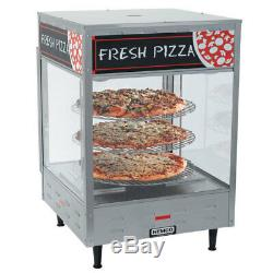 NEW 18.5 Rotating Heated Pizza Merchandiser Glass Cabinet NSF Nemco 6450 #1092