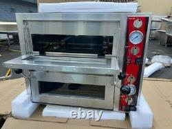 NEW 18 Double Deck Countertop Pizza Oven Independent Chambers 240V NSF