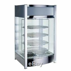 NEW 18 Electric Heated Pizza Warmer Pretzel Glass Display Case Winco EDM-2 9969