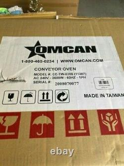 NEW Conveyor Commercial Countertop 14 Pizza and Baking Oven -OMCAN CE-TW-0356