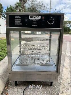 Nemco 6452-Pass-Thru Countertop Pizza Merchandiser with 18 Diameter Racks