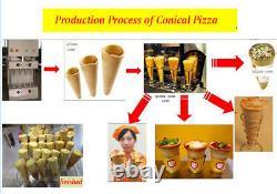 New 110V Commercial Automatic Pizza Cone Forming Machine Ice Cream Cone Maker