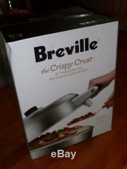 New Breville Crispy Crust Pizza Maker Counter Top Silver Electric Oven BPZ600XL