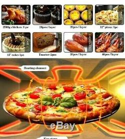 New Commercial Double Layer Explosion Proof Electric 3KW Pizza Cake Oven