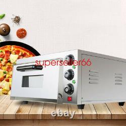 New FDA 2000W Electric Commercial Countertop Single Pizza Oven, Stainless Steel