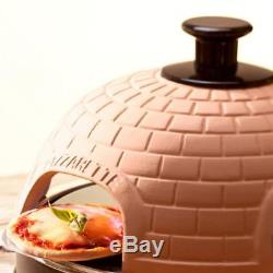 New Mini Pizza Oven, Electric Countertop Ovens With Real Stone & Terracotta Dome